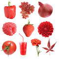 Red collection Stock Photo
