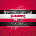 Red color background with valentine heart and wish wishes text vector illustration Royalty Free Stock Photography