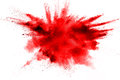 red color powder explosion