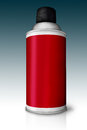 Red color spray bottle isolated on gradient Royalty Free Stock Image