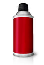 Red color spray bottle isolated on white Stock Image