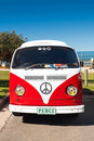 Red Combi Van Stock Images