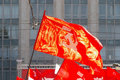 Red communist flag Stock Photos