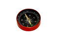 Red compass isolated on white Royalty Free Stock Photo