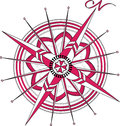 Red Compass Rose Royalty Free Stock Photo