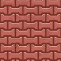Red Concrete H shaped paving slabs surface. Seamless texture