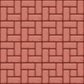 Red Concrete paving slabs surface. Seamless texture backgrounds