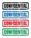 Red confidential stamp a grungy Royalty Free Stock Photography