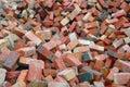 Red Construction Bricks Stock Photo