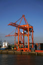Red Container Loading Crane, Dublin Port Royalty Free Stock Photo