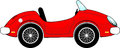 Red convertible car cartoon funny isolated on white background Royalty Free Stock Photography