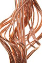 Red copper wires concept of energy power industry Stock Photography