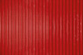 Red corrugated metal sheet texture background Royalty Free Stock Photo