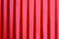Red corrugated steel sheet texture Royalty Free Stock Photo