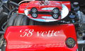 Red corvette seattle wa circa june car show in seattle with the on display photo taken on june Stock Image