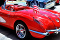 Red corvette seattle wa circa june car show in seattle with the on display photo taken on june Royalty Free Stock Image