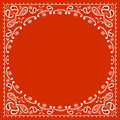 Red cowboy bandanna vector illustration Royalty Free Stock Photography