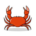 Red Crab illustration Royalty Free Stock Image