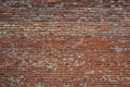 Red cracked white grunge brick wall textured background stained old stucco aged paint grungy rusty blocks Royalty Free Stock Image