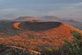 Red craters of mauna kea at sunset big island hawaii Royalty Free Stock Images