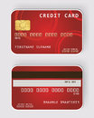 Red credit card Banking concept Royalty Free Stock Photography