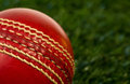 Red Cricket Ball Stock Images