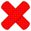 Red Cross Bandaids Stock Photography