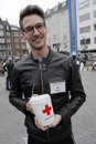RED CROSS DONATION COLLECTION DAY Royalty Free Stock Photo