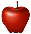 A red crunchy apple Royalty Free Stock Photo