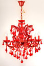 The wedding gift, Red Crystal lighting Keepsake, Christmas gift Holiday gift Romantic Home Furnishing decoration Royalty Free Stock Photo