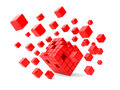 Red cubes Stock Photo