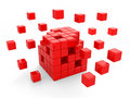 Red cubes Stock Photos