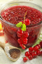 Red currant jam Stock Photo