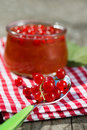 Red currant jam in a glass Royalty Free Stock Photography