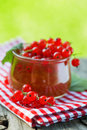 Red currant jam in a glass Royalty Free Stock Photos