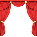 Red curtain in 3D Stock Image