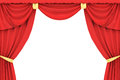 Red curtain in 3D Royalty Free Stock Image