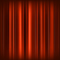 Red curtain authors illustration in vector Stock Photography