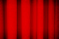 Red curtain background texture theatrical Royalty Free Stock Photo