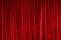 Red curtain closed in theater Royalty Free Stock Photography