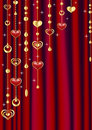 Red curtain with decoration. Royalty Free Stock Photos