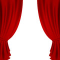 Red curtain illustration of a theater Stock Photography