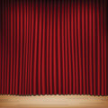 Red curtain seamless with stage image contains gradient mesh Royalty Free Stock Photography