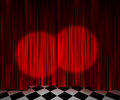 Red Curtain Spotlight Stage Background Royalty Free Stock Photography