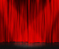 Red Curtain Stage Background Stock Photos