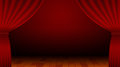 Red Curtain, Stage, Entertainment, Theater, Background Royalty Free Stock Photo