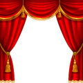 Red curtain theater stage with detailed vector illustration Royalty Free Stock Photography