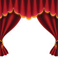 Red curtain theater stage with image contains gradient mesh Royalty Free Stock Photo