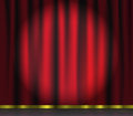 Red curtain theatre background vector illustration Stock Photos
