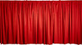 Red curtain of thick fabric Stock Images